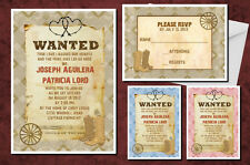 Wedding Invitations & Response Cards Country Western Cowboy Boots Southern Lasso