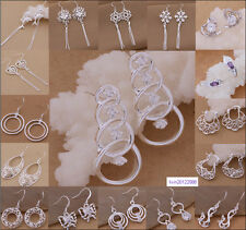 wholesale Fashion Jewelry solid Silver Beautiful ladies earrings+ gift box925