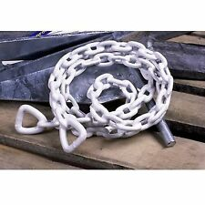 Tie Down Vinyl Coated Anchor Chain White - Pick Size