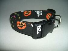 HALLOWEEN GHOSTS PUMPKINS AND BATS DOG COLLAR (YOU PICK THE SIZE)