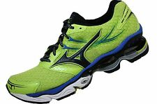 Mens Mizuno Wave Creation 14 Running Shoe Lime Green Blue Black 8KN-30027