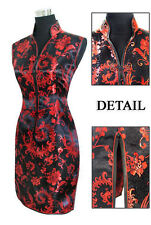 Chinese Women's silk Mini Dress CheongSam SZ:S-2XL