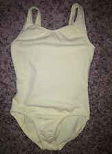 Motionwear Dance Jazz Gymnastics Ballet Yellow Tank Leotard Girls M 8-10 L 12-14