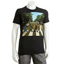 OFFICIAL LICENSED THE BEATLES APPLE ABBEY ROAD ADULT MENS S/S T-SHIRT BLACK BNWT