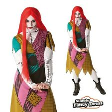 Adult Sally Fancy Dress Nightmare Before Christmas Costume Halloween Outfit