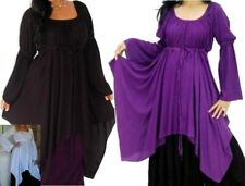 boho chic white black purple blue or red gypsy peasant blouse or dress 8 10 12
