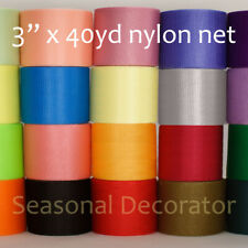 "Scrubby Nylon Net 3"" 40 Yards Spool (First Half Of 40 Colors)"