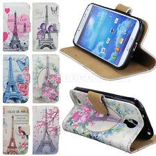 Pretty Paris Tower For Samsung Galaxy S4 I9500 Wallet Flip Leather Case Cover