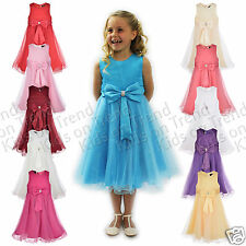 GIRLS Party Dress Flower Girl Wedding Bridesmaid Age 2 3 4 5 6 7 8 9 10 11 12 13