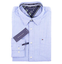 Tommy Hilfiger Men Long Sleeve Custom Fit Button Down Stripe Shirt - $0 Shipping