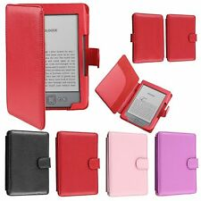 "Slim Leather Case Cover Magnet Closure For Kindle 5 & Kindle 4 6"" E Ink Display"