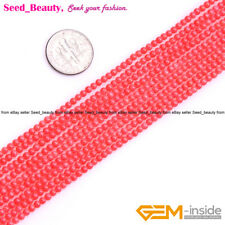 """Beauty Round Pink Coral Gemstone Loose Beads 15"""" 2/3/4/6/8/10/12/13-14mm Select"""