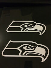 (2) Seattle Seahawks Vinyl Car Window Sticker / Decal (6 Colors available)