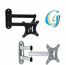 TILT SWIVEL LCD LED MONITOR TV WALL MOUNT BRACKET 14 17 19 20 21 22 23 24 INCH
