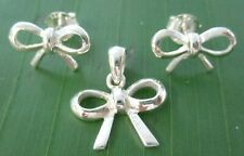 925 STERLING SILVER plain SMALL CUTE BOW NAUTICAL SEA ANCHOR STUDS EARRINGS