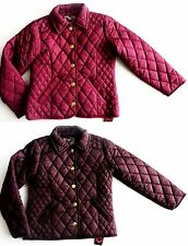 PRIMARK Girls NAVY CHESTNUT RED Quilted Short Padded Jacket 7-13y