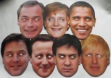 Politicians Celebrity Face Masks - Great for Parties/Elections - 1st Class Post