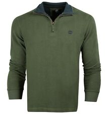 Timberland Classic Cotton V-Neck Zip-Up Knitwear - Premium Collection