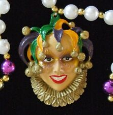 Jester Mardi Gras Bead Necklace YOU CHOOSE New Orleans Party Favor Throw Parade