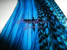 10pc Feather Extensions Grizzly & Solid Whiting Saddle Wholesale Outlet Price
