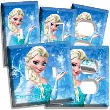 DISNEY FROZEN ELSA LIGHT SWITCH OUTLET PLATES LIVING ROOM GIRLS BEDROOM DECOR