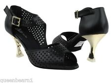 CD3003H Black Leather Salsa Ballroom Latin Tango Dance Shoes 2 5 and 3 inches