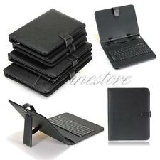 "USB Keyboard PU Leather Stand Case Cover For 8/9/9.7/10/10.1"" Android Tablet PC"