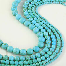 Turquoise Gemstone Round Loose Bead 4/6/8/10mm Beads For  Jewelry Making