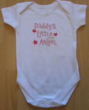 Daddy's Little Angel Baby Vest Grow Boy Girl Babies Clothes Cute Funny Gift