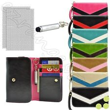 T-Mobile Smart Cell Phone Wallet Bag Case Cover + Screen Protector + Stylus