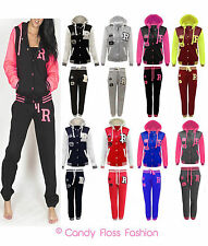 NEW LADIES BASEBALL TRACKSUIT JOGGING BOTTOMS WOMENS HOODIE SIZE 8-14