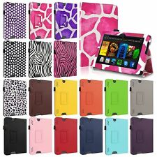 "New PU Leather Folio Stand Case Cover For Amazon Kindle Fire HDX 7"" / 8.9"" inch"