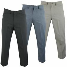 Mens Farah Trousers Frogmouth Pocket Regular Fit Flat Front