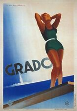 TV27 Vintage 1933 Italian Italy Grado Travel Poster Re-Print A2/A3/A4