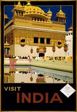 TA29 Vintage Visit India Indian Railways Travel Poster Re-Print - A1/A2/A3/A4