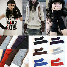 Fashion unisex Knit Wrist Arm Warmer Fingerless Hand Long Mitten Gloves
