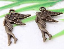 Wholesale 18/42Pcs Bronze Plated(Lead-Free)Angel Charms Pendants 31x15mm