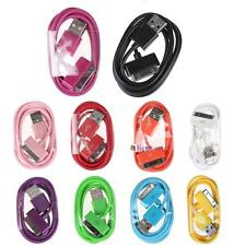 New 10 Colours 1M USB Data Sync Charger Cable Cord For Apple iPhone 4 4S 3G 3GS