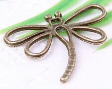 Wholesale 12/28Pcs Bronze Plated (Lead-Free)Dragonfly Charms Pendant 31x29mm