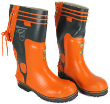 Husqvarna Rancher Rubber Logging Protective Water Proof Snow Chain Saw Boots