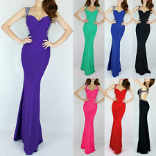Stylish Backless Long Bridesmaid Wedding Evening Party Prom Ball Formal Dresses