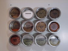 4 oz Applause™  - Set of 12 - Spice Tins only or add Magnetic Spice Rack Options