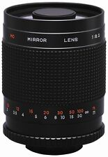 Rokinon 500mm/1000mm F8 Telephoto Mirror Lens with Rear Mount Filters - New!