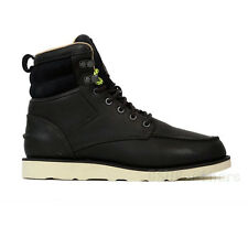 Reebok Classic Leather RW Boot (Black/Paperwhite/Neon Yellow) Men's Boots V48349