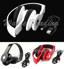 Wireless Bluetooth Stereo FM MP3 Headset Headphone For Phone PC Tablet Laptop