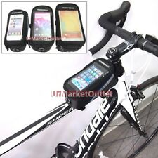 Universal Bicycle/Bike Mount Carry Bag/Holder/Case/Pouch+Cable for Mobile Phone
