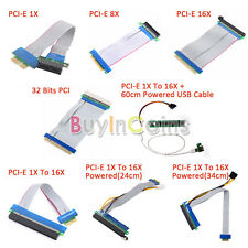 1X/8X/16X 1X To 16X PCI-E Extension Cable PCI Extender Riser Card Adapter HFAU