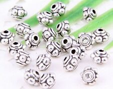 Wholesale 130/300Pcs Tibetan Silver(Lead-Free) Spacer Beads Findings 4.5x4mm