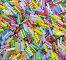 Glass Bugle Beads 7 mm x 2 mm - 30 Colours to Choose From
