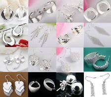 wholesale Fashion Jewelry Charming solid 925Silver earrings+ gift box